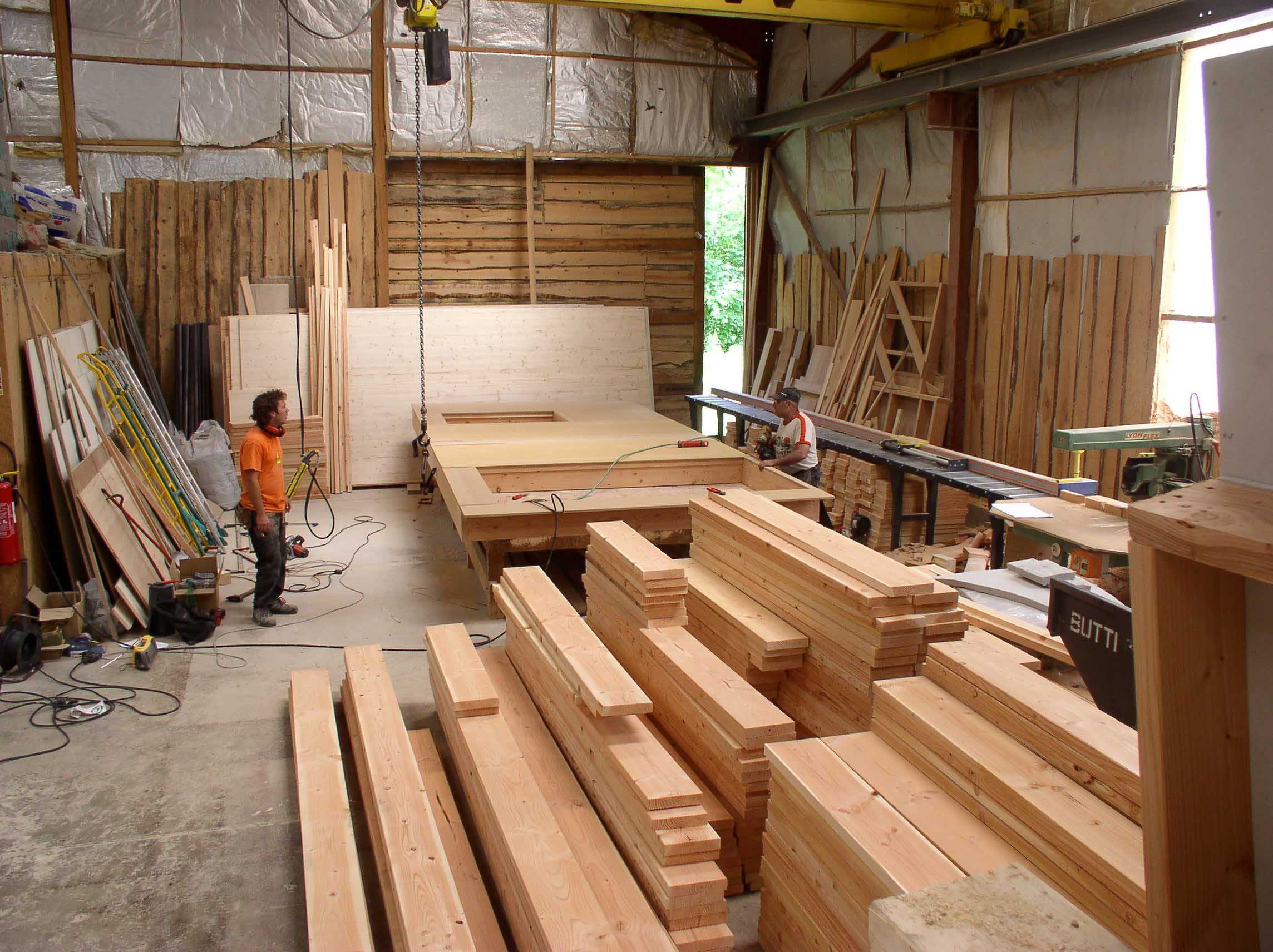 pré-fabrication murs ossature-bois