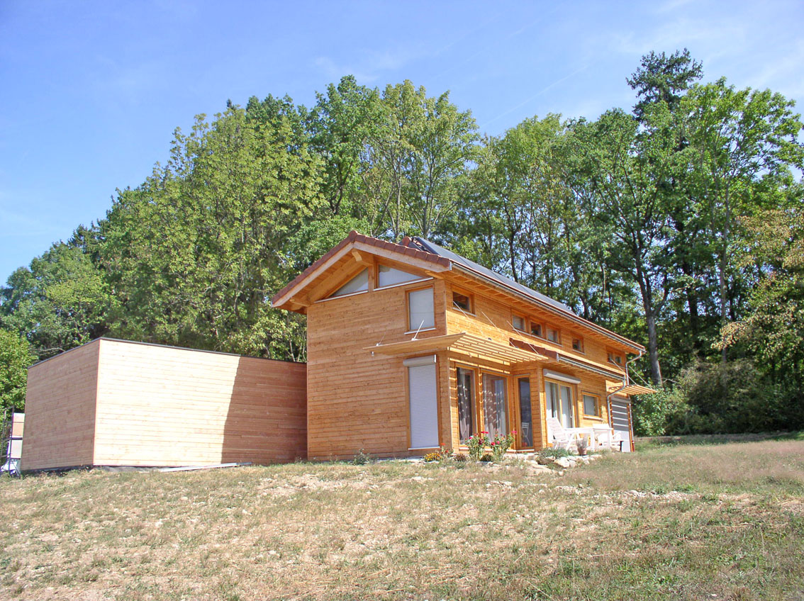 maison ossature-bois isère bardage douglas