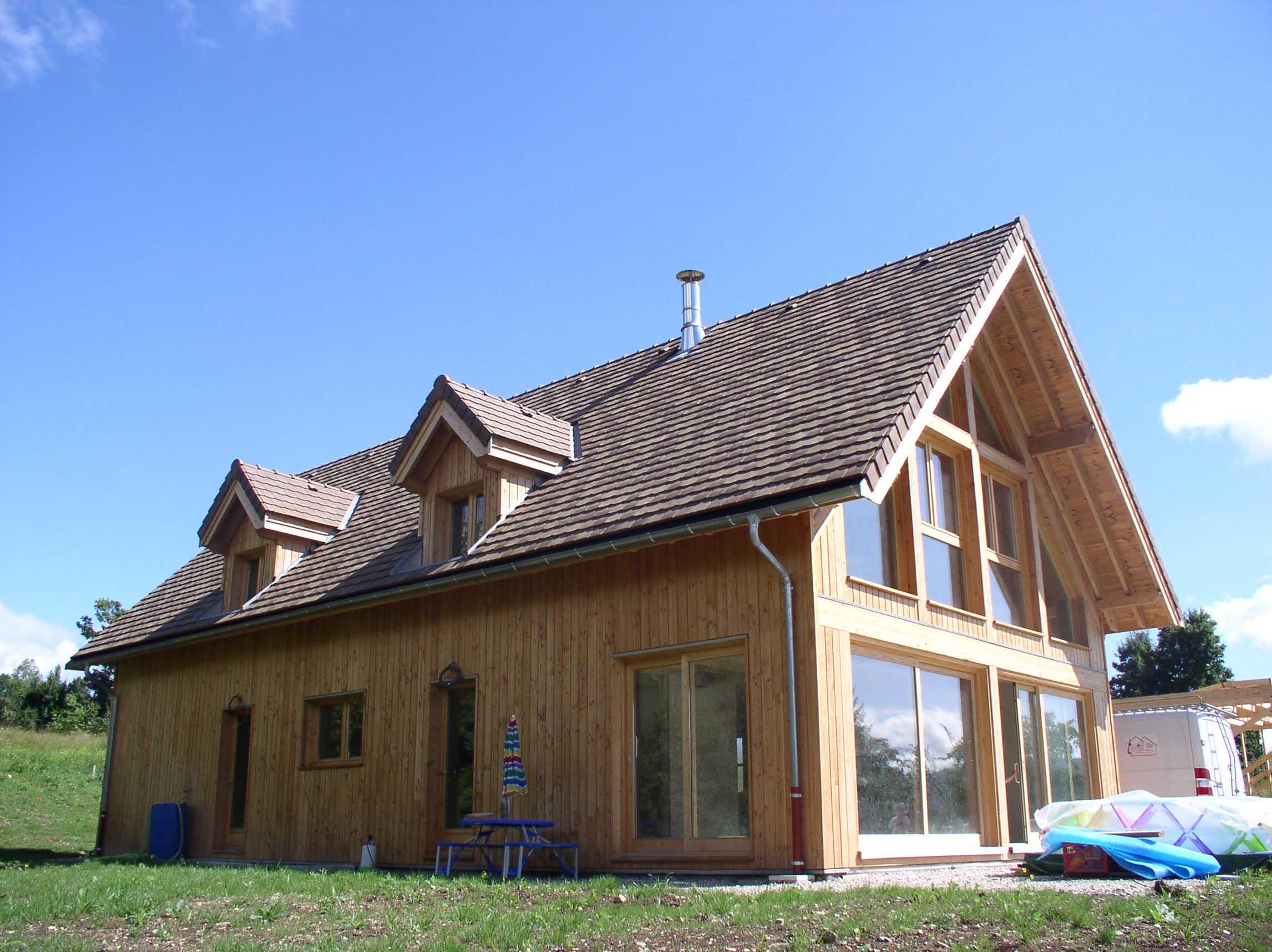 Bardage Bois Vertical : Maison Tri?ves bardage vertical Nicollet Charpente – Construction