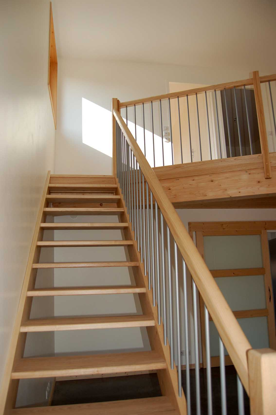 maison ossature-bois escalier sur mesure