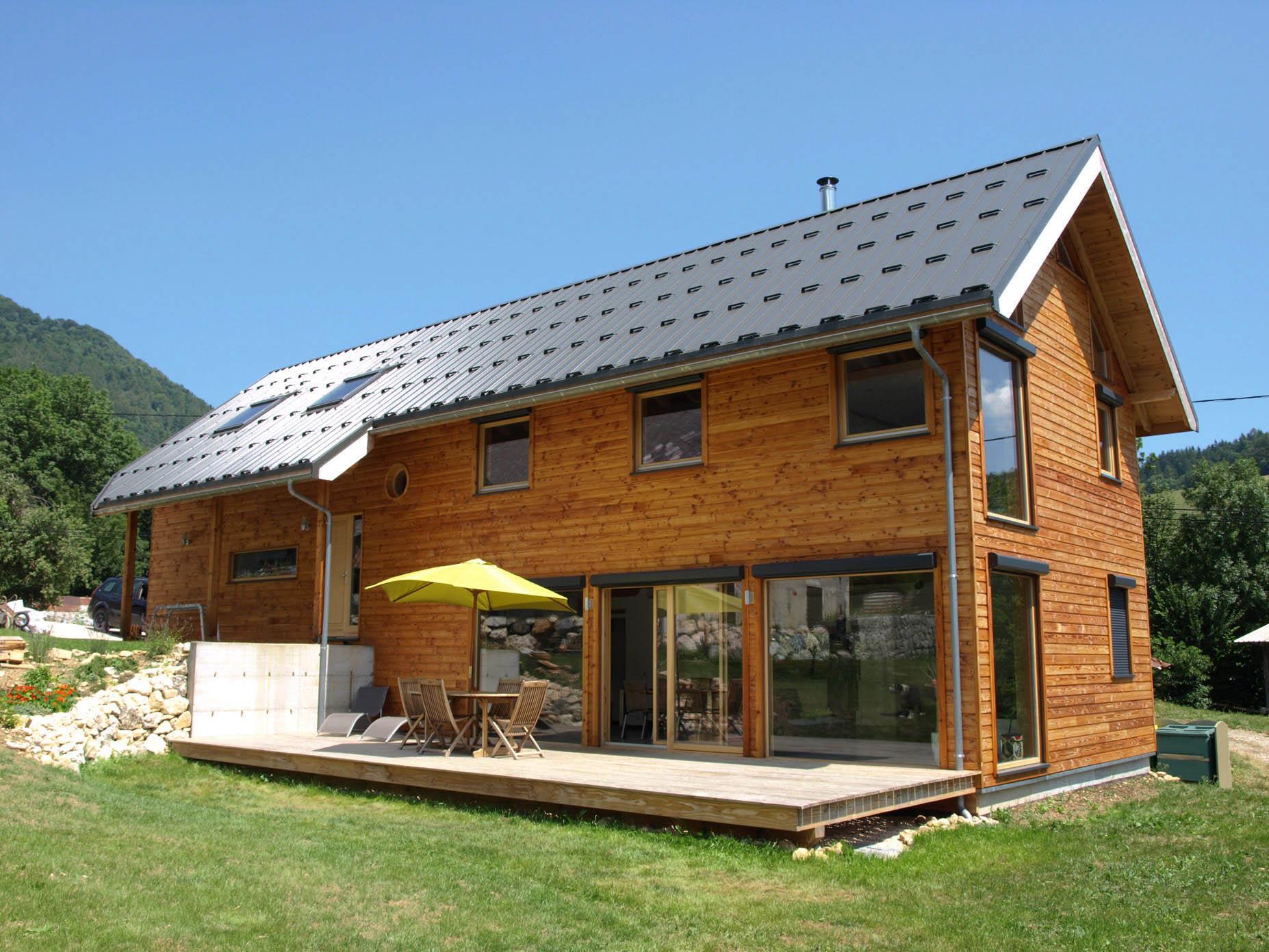 Ossature bois Vercors BBC ; facade ouest