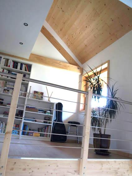 ossature bois bbc Vercors ; intérieur 1