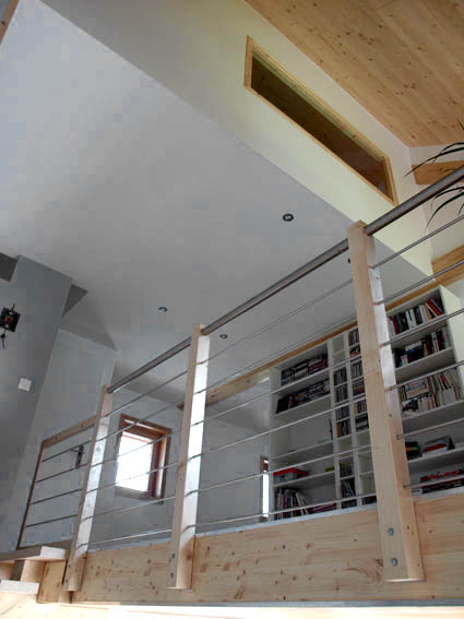 ossature bois bbc Vercors ; intérieur 2